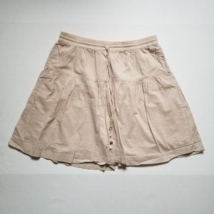 GAP soft khaki A line skirt with pockets  size M